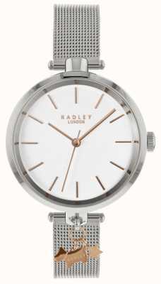 Radley Ladies Silver Watch | Stainless Steel Mesh Strap | RY4363