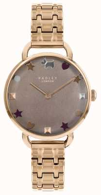 Radley Ladies Watch Rose Gold Open Shoulder Bracelet RY4350