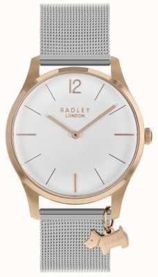 Radley Ladies Watch Rose Gold Case Silver Mesh Strap RY4355