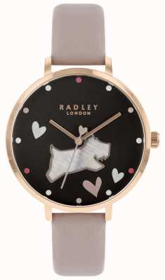 Radley Ladies Large Mother Of Pearl Dog Black Dial RY2678
