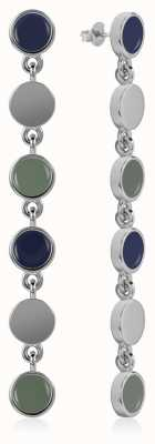 Radley Jewellery Enamel Drop Earrings Silver RYJ1045