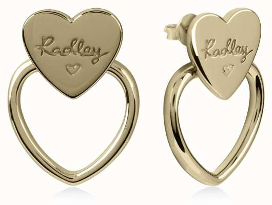 Radley Jewellery Gold Double Heart Stud Earrings RYJ1038
