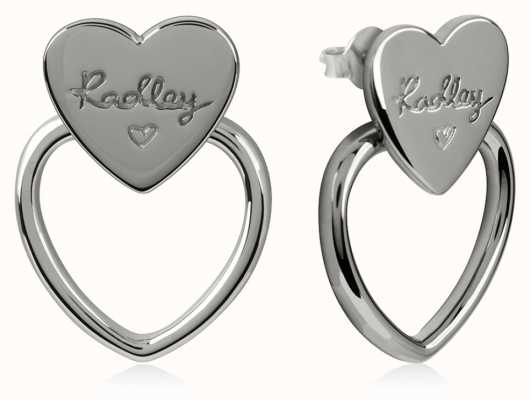 Radley Jewellery Silver Double Heart Stud Earrings RYJ1037