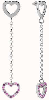 Radley Jewellery Silver Double Heart Drop Earrings RYJ1051