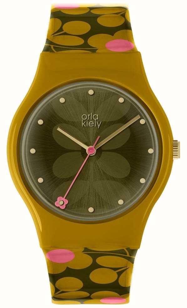 Orla Kiely Las Bobby Watch Olive Green Ok2234