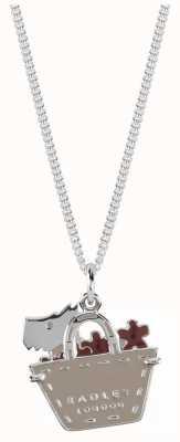 Radley Jewellery Enamel Dog In Bag Necklace RYJ2049