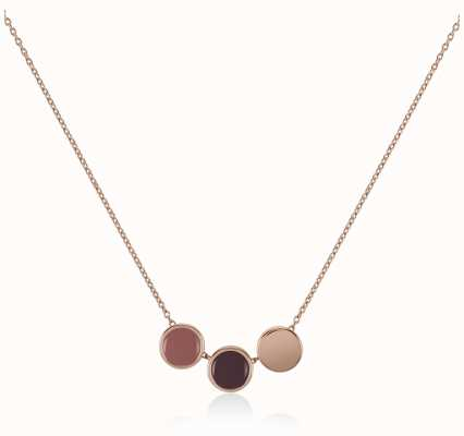 Radley Jewellery Rose Gold Plated Silver Enamel Drop Necklace RYJ2042