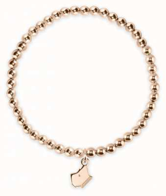 Radley Jewellery Rose Gold Bead Plated Silver Expander With Dog Head Charm RYJ3020