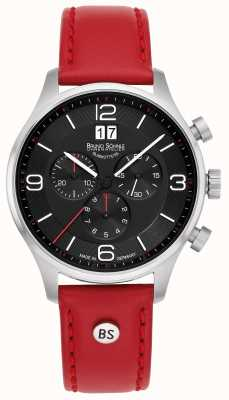Bruno Sohnle Padua Chronograph | Red Leather Strap 17-13196-723