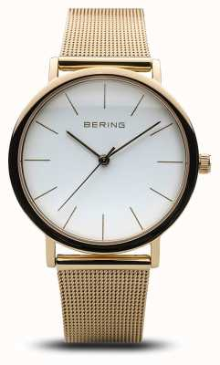 Bering Ladies Classic Watch Gold Mesh 13436-334