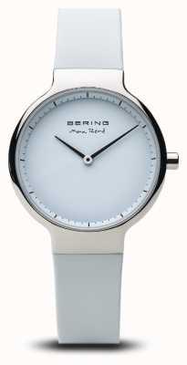 Bering Max René | Polished Silver | Silicone Strap 15531-904