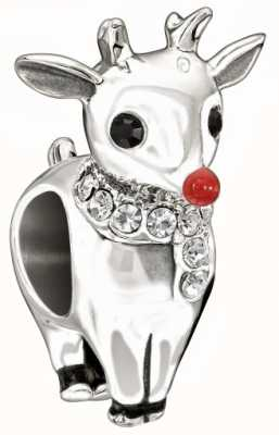 Chamilia Rudolph Charm Red Enamel Black And With Swarovski Crystals 2025-0995