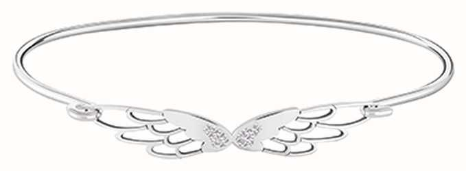 Chamilia Pave Wings ID Bangle Silver Medium/large 1010-0466