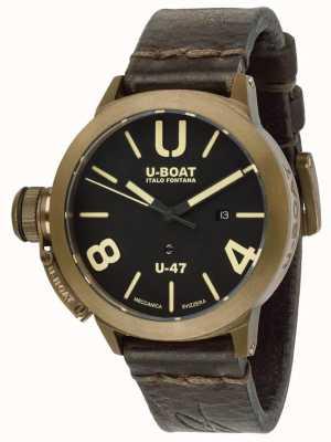 U-Boat Classico  U-47 Bronze Automatic Brown Leather Strap U7797