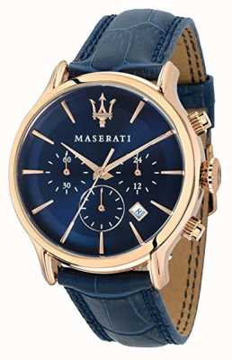Maserati Men's Epoca 42mm | Blue Dial | Blue Leather Strap R8871618007
