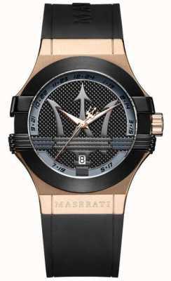 Maserati Men's Potenza Analogue | Black Dial | Black Silicone Strap R8851108002