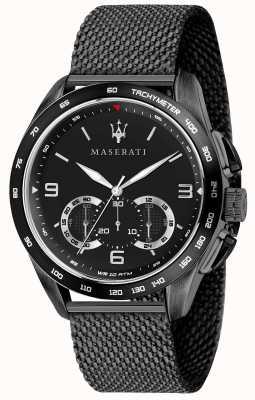 Maserati Mens Traguardo 45mm | Black Dial | Black Mesh Bracelet R8873612031