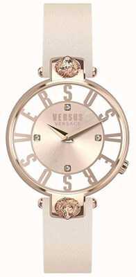 Versus Versace Womens Kristenhof | Pink/White Dial | Pink Leather Strap VSP490318