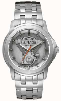 Harley Davidson Men's Stainless Steel Engine Dial 76A021
