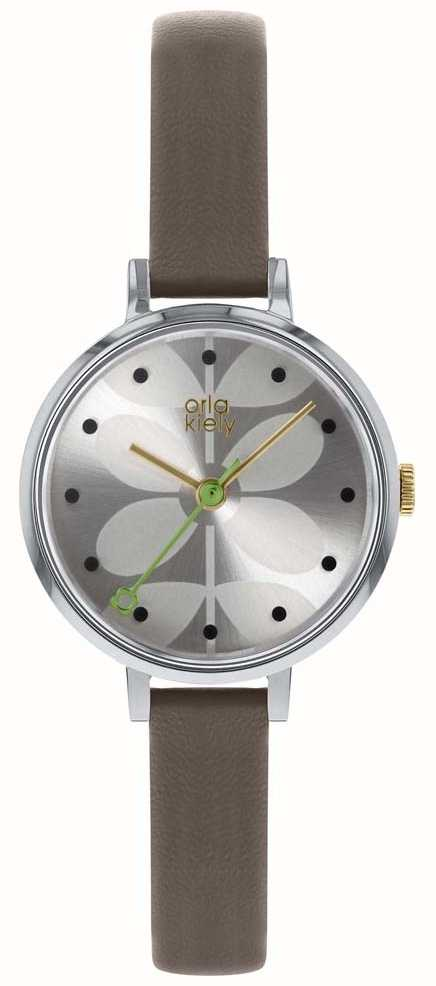 Orla Kiely Las Watch Grey Strap