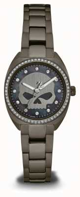 Harley Davidson Womens From The Oil Slick Collection | Crystal Set Dial | 78L124