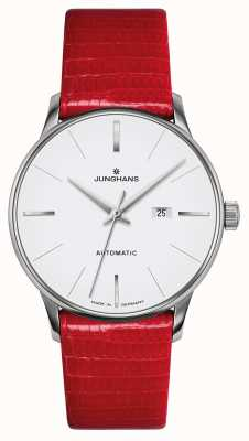 Junghans Meister Damen Automatic | Red Genuine Lizard Strap 027/4844.00