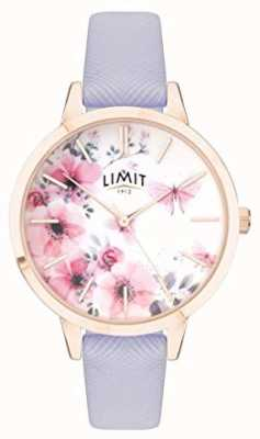 Limit | Womens Secret Garden Watch | Pink&White Dial | Purple Strp 60022