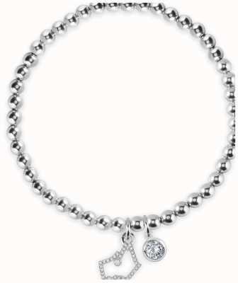 Radley Jewellery | Womens | Silver Bead Expander Stone Set Dog | Earrings | RYJ3035