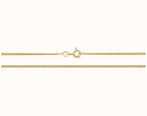 "Treasure House 9k Yellow Gold Close Curb Chain 18"" Ch162/18"