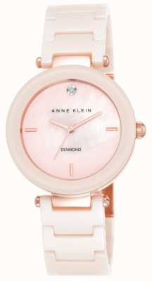 Anne Klein | Womens Alice | Pink Ceramic Bracelet Watch AK-N1018PMLP