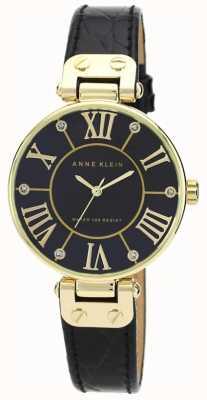 Anne Klein | Womens Signature Watch | Black And Gold | AK/N1396BMBK