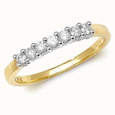 Treasure House 9k Yellow Gold Diamond Half Eternity Ring RD144