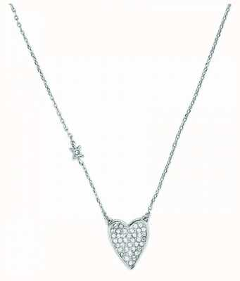 "Adore By Swarovski Pointed Heart Necklace 16-18"" Adjustable 5303077"