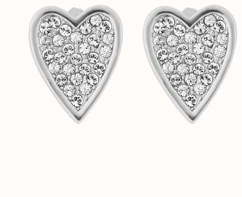 Adore By Swarovski Pointed Heart Earrings Silver 5303088
