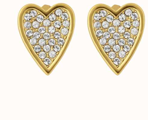 Adore By Swarovski Pointed Heart Earrings Gold Plated 5303089