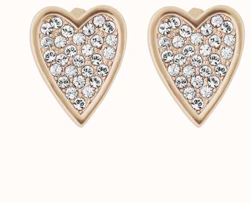 Adore By Swarovski Pointed Heart Earrings Rose Gold 5303090