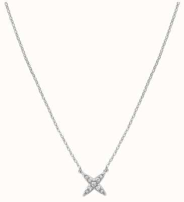 "Adore By Swarovski 4 Point Star Necklace Silver 16-18"" Adjustable 5259847"
