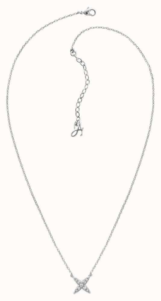 Adore By Swarovski 4 Point Star Necklace Silver 16 18 Adjustable