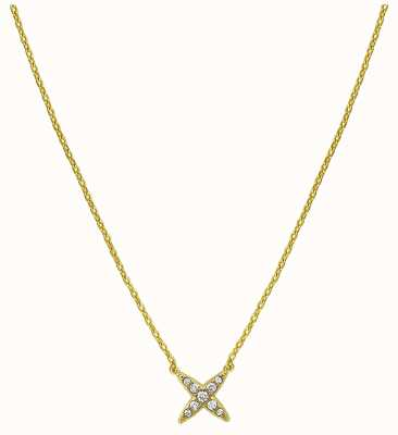 "Adore By Swarovski 4 Point Star Necklace Gold 16-18"" Adjustable 5259848"