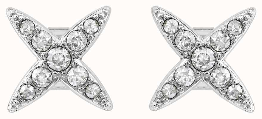 Adore By Swarovski 4 Point Star Earrings Silver 5259857