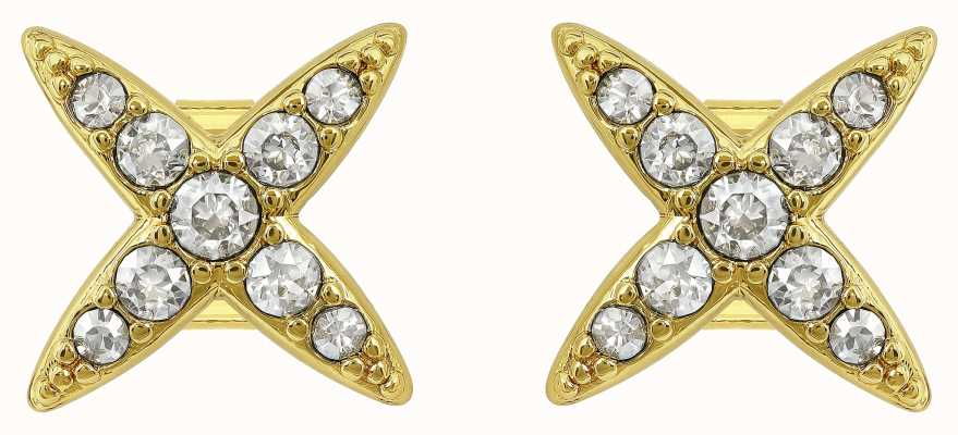 Adore By Swarovski 4 Point Star Earrings Gold Plated 5259858