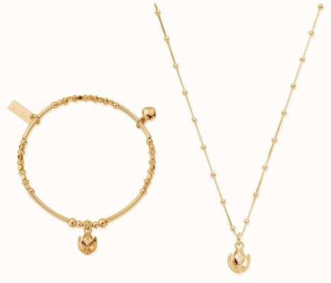 ChloBo | Gold Beautiful Soul Set | Necklace & Bangle GBNVAL19