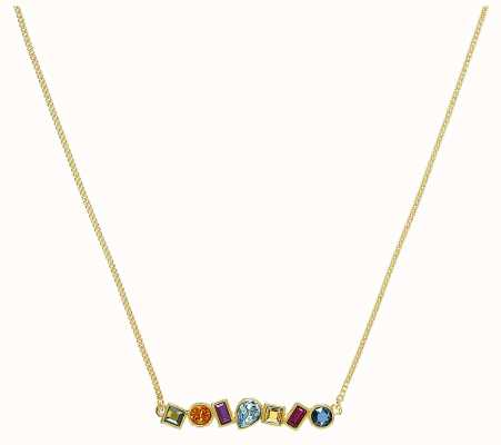 "Adore By Swarovski Mixed Crystal Bar Necklace 16-18"" Gold Plated 5375514"