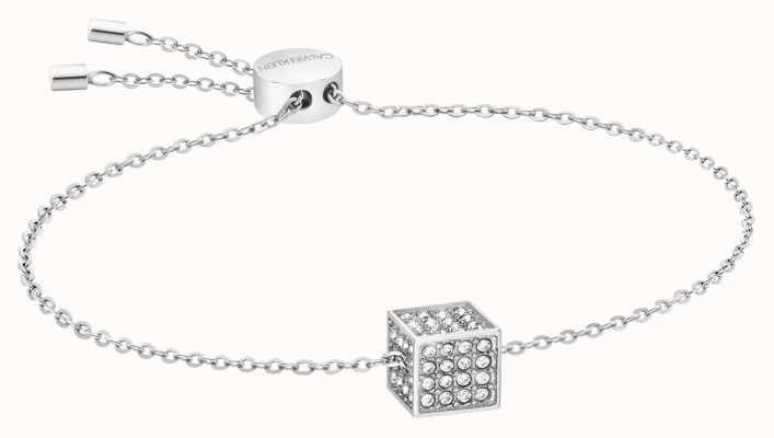 Calvin Klein   Womens Rocking   Silver Bracelet   Swarovski Crystal KJ9CWB040100