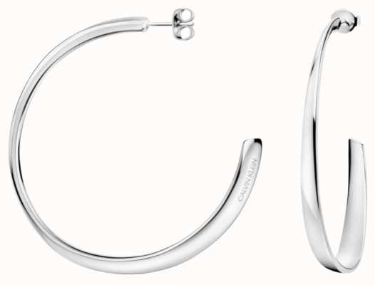 Calvin Klein | Womens Groovy | Silver Earrings | KJ8QME000100