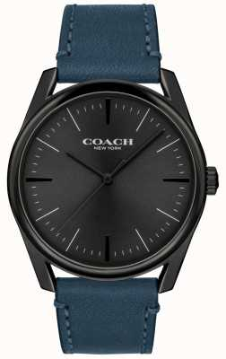 Coach | Mens Modern Luxury Watch | Blue Leather Strap | 14602399