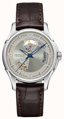 Hamilton Jazz Master Automatic Open Heart Silver Dial Brown Leather H32565521