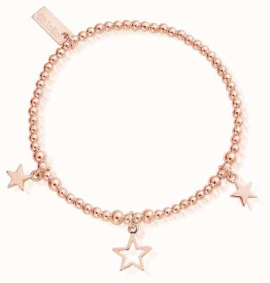 ChloBo | Rose Gold Triple Star Bracelet | RBSB1066802