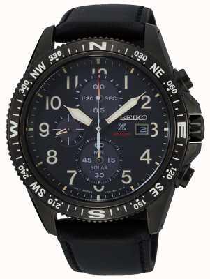 Seiko Men's Prospex Solar Chronograph Leather Strap SSC707P1