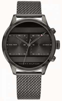 Tommy Hilfiger | Men's Black Mesh Watch Black Dial | 1791597